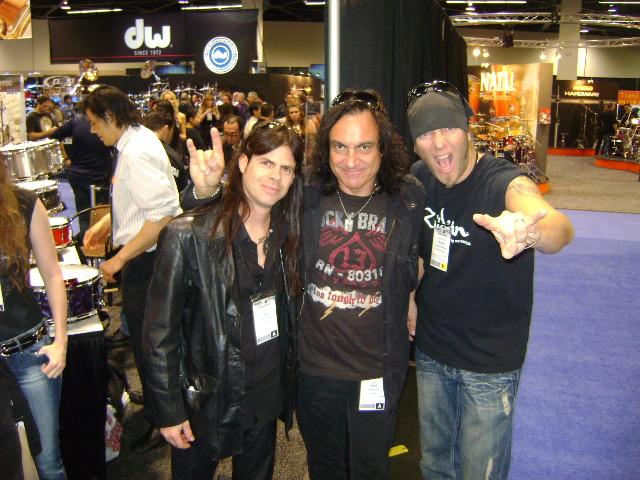 Vinnie Appice (Dio) and Patrick Johansen (Yngwie Malmsteen)